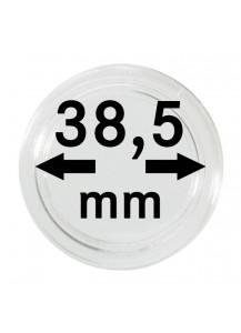 MÜNZKAPSELN  INNEN-Ø   38,5 mm    10er Packung