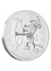 Niue 2017  Steamboat Willi - Micky Mouse Silber 1 oz