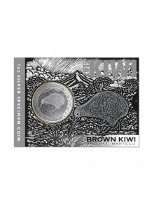 Neuseeland 2019  Brown Kiwi  Silber im Blister