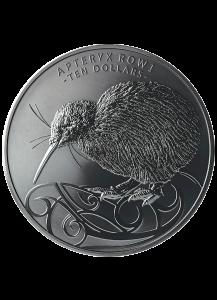 Neuseeland 2020  Okarito Kiwi  Silber 5 oz - Black Nickel Beschichtung