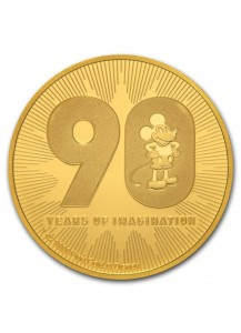 Niue 2018  Disney 90 Jahre Mickey Mouse  Gold 1 oz