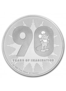 Niue 2018  Disney 90 Jahre Mickey Mouse  Silber 1 oz