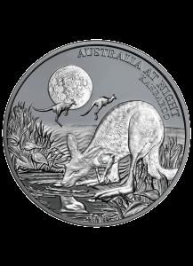 Niue 2019 Känguru - Serie Australien bei Nacht Silber 1 oz  Black Proof