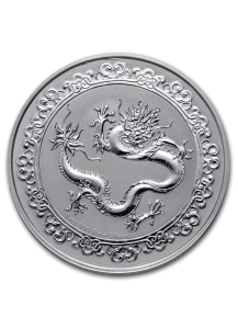 Niue 2019  Celestial Animals The  Green Dragon - Grüner Drache Silber 1 oz