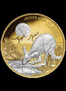 Niue 2019  Känguru -  Australien bei Nacht Gold 1 oz PP mit Platinbeschichtung