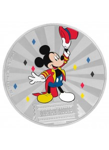NIUE 2019 Mickey Mouse & Friends - Carnival - Mickey Mouse Silber 1 oz PP Farbe