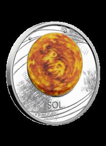 Niue 2019  Die Sonne - Serie Sonnensystem Silber 1 oz mit Farbe