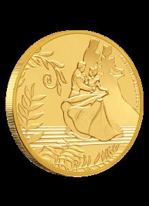 NIUE 2020 Cinderella - 70 Jahre Aschenputtel  Gold 1/4  oz  Auflage 100 Stück