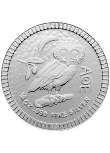 Niue 2020    Eule von Athen  Silber 1/4 oz