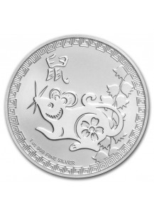 Niue 2020 Year of the RAT - Maus - Lunar Serie  Silber 1 oz