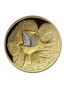 Niue 2020  Kragenechse - Serie Wildlife Gold 1 oz PP mit Platinbeschichtung