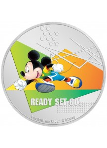 Niue 2020  Mickey Mouse Sports Serie: Laufen Silber 1 oz