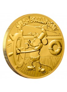 Niue 2020  Steamboat Willi - Micky Mouse Gold 1 oz   PP