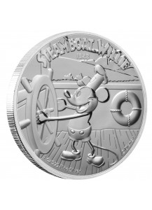 Niue 2020  Steamboat Willi - Micky Mouse Silber 1 oz   PP