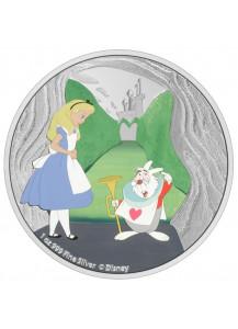 Niue 2021 Alice im Wunderland - DAS WEISSE KANINCHEN Silber 1 oz