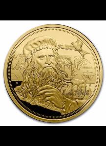 Niue 2021    Icons of Inspiration - da Vinci  Gold 1 oz   PP polierte Platte