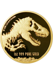 Niue 2021  JURASSIC PARK  World Movie  Gold 1 oz
