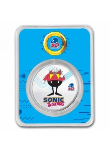 Niue 2021 Sonic - DR. EGGMAN  Silber 1 oz FARBE + BLISTER