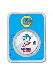 Niue 2021 Sonic the Hedgehog  Silber 1 oz FARBE + BLISTER