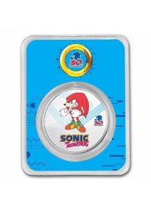 Niue 2021 Sonic - KNUCKLES  Silber 1 oz FARBE + BLISTER