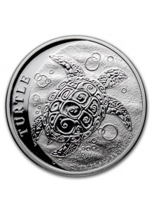 Niue 2021 Schildkröte - Hawksbill Turtle 1 oz Silber