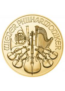 Österreich 2021    Wiener Philharmoniker     Gold 1/25 oz