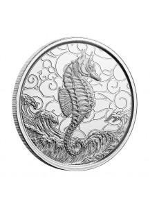 Samoa 2020  Seepferdchen - Seahorse  Silber 1 oz