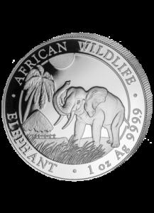 Somalia 2017   Elefant 1 oz Silber