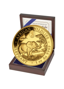 Somalia 2019   Elefant  WMF Privy Mark Berliner Bär  Gold 1 oz