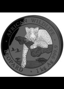Somalia 2020  LEOPARD  BLACK PREMIUM EDITION Silber 1 Kilo