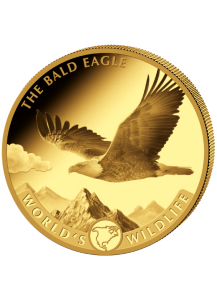 Congo 2021 Weisskopfseeadler - Bald Eagle - World`s Wildlife Serie Gold 1 oz Kongo