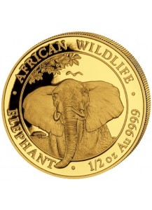 Somalia 2021   Elefant  Gold 1/2 oz