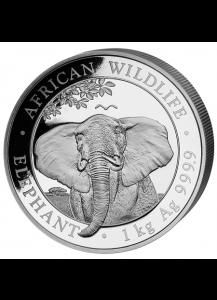 Somalia 2021  Elefant  Silber 1 Kilo