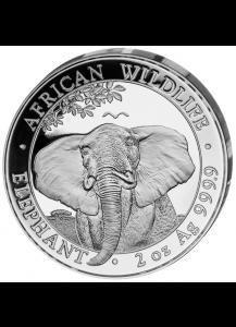Somalia 2021   Elefant   2 oz  Silber