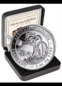 Somalia 2016   Elefant Privy WMF Berlin Reichstag Auflage 1000 Stück 1 oz Silber