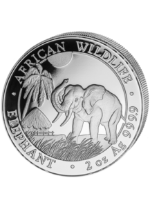 Somalia 2017   Elefant   2 oz  Silber