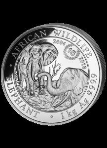 Somalia 2018   Elefant 15 JAHRE JUBILÄUM Silber 1 Kilo