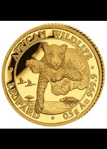 Somalia  2020 Leopard   Gold 0,5 g
