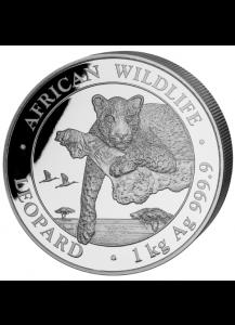 Somalia 2020  Leopard Silber 1 KILO