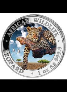 Somalia 2020  Leopard 1 oz Silber FARBE