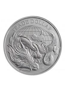 St. Helena 2021  Moldern Chinese Trade Dollar Silber 1 oz