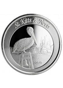St. Kitts & Nevis 2019  Brauner Pelikan Silber 1 oz