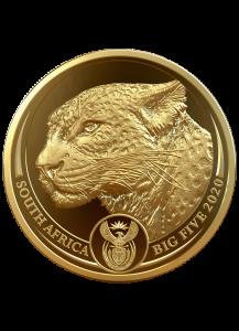 Südafrika 2020  BIG FIVE - LEOPARD Gold 1 oz polierte Platte