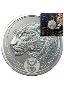 Südafrika 2020  BIG FIVE - LEOPARD  Silber 1 oz