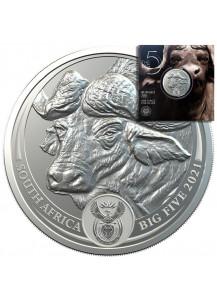 Südafrika 2021  BIG FIVE - BÜFFEL  Silber 1 oz