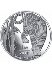 Südkorea 2018  South Korea Tiger Silber 1 oz