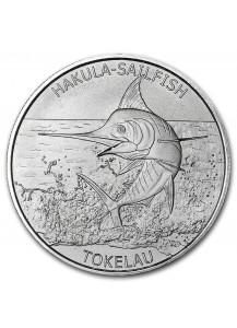Tokelau 2016 Hakula Sailfisch Segelfisch 1 oz Silber