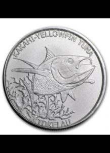 Tokelau 2014 Thunfisch - Kakahi-Yellow Tuna 1/2 oz Silber