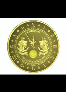 Tokelau 2021 Chronos 5 vor 12 Uhr Gold 1/10 oz prooflike