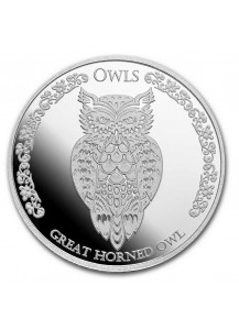 Tokelau 2021 Great Horned OWL - Eule Silber 1 oz